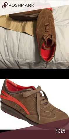 Aerosoles tennis shoes. Suede on inside and out. Red interior. Worn maybe twice. AEROSOLES Shoes Sneakers