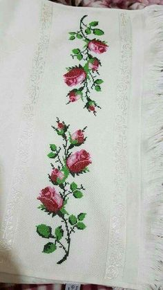 Sulky Fuse 'n Stitch Cut Away Permanent Fabric Stabilizer, 24 by - Embroidery Design Guide Beaded Cross Stitch, Cross Stitch Borders, Cross Stitch Rose, Cross Stitch Flowers, Cross Stitch Charts, Cross Stitch Designs, Cross Stitching, Cross Stitch Embroidery, Hand Embroidery