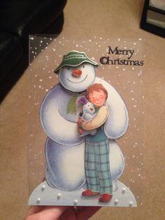 Snowman acetate card