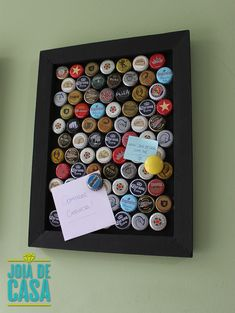 Bottle Cap Projects, Bottle Cap Crafts, Metal Crafts, Diy And Crafts, Plastic Bottle Tops, Beer Cap Art, Bookmark Craft, How To Make Coasters, Coin Display