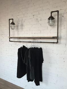 Модули/Бра в стиле Лофт. Hanging Clothes, Loft Style, Retail Space, Fashion Room, Light Decorations, Wood Furniture, House Design, Interior Design, House Styles