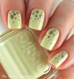 essie Metallic Scattered Polka Dot Nail Art