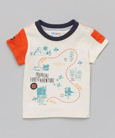 Look what I found on #zulily! Egret 'Tropical Adventure' Tee - Infant by Rococo #zulilyfinds
