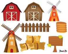 OFF SALE Farm animals,Farm animal Clipart,Farm Clipart barn horse pig cow truck sheep duck bird giraffe chicken clipart animals windmill