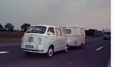 Fiat 600 Multipla and caravan, gorgeous