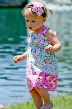 Aliyah Shirred Dress PDF Sewing Pattern by FemiKidsCouture - Allegro DigiPatterns