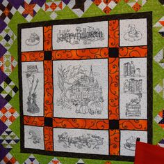 """""""Which Witch?"""" machine embroidered quilt from Claudia's Creations, seen at Bear Patch Quilting"""