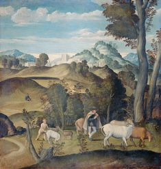 Girolamo da Santa Croce : The Young Mercury Stealing Cattle from the Herd of Apollo  (Rijksmuseum  (Netherlands - Amsterdam)) 1490-1556 ジローラモ・サンタ・クローチェ