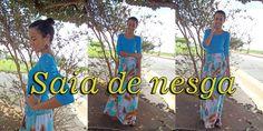 Aprenda a costurar saia de nesga por Alana Santos Blogger