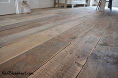 Sloophouten vloer gelegd door VanSloophout.com #houtenvloer #landelijk