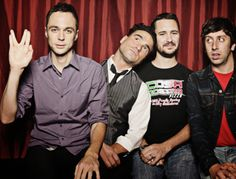 Jim Parsons, Johnny Galecki, Wil Wheaton, and Simon Helberg