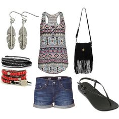 summer traveling outfit, sumthing my sister would wear