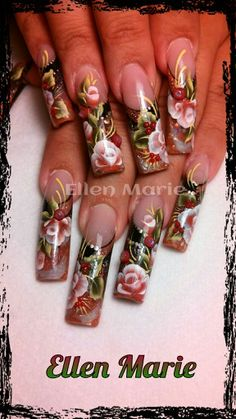 Sculptured acrylic nails