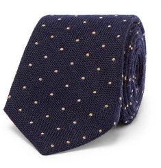 Brunello Cucinelli7cm Polka-Dot Wool and Silk-Blend Tie