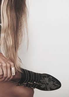 Gold Cuff Ring + Chloe Boots from James Michelle Jewelry