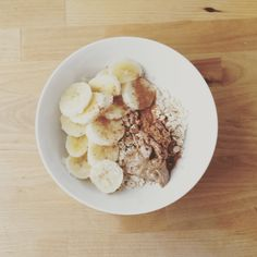 Brunch! Oatmeal with bananas and almond butter. (485 cal) #goodnutrition #physicalactivity #goodfood #vegetables #JuicePlus #healthymeal #healthyfood #healthy #health #exercise #eatclean