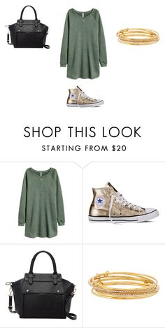 """""""Sans titre #7322"""" by ghilini-l-roquecoquille ❤ liked on Polyvore featuring Converse, Pink Haley and Kate Spade"""