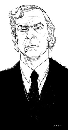 Carter | Michael Caine line drawing.