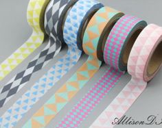 Washi Tape - Masking Tape - Japanese Washi - Deco Tape - Gift Wrap - Filofax - MTS066 - 6 roll