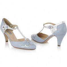 Gardenia Powder Blue by Rachel Simpson Leather Vintage Designer Wedding Party or Occasion Shoes