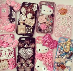 Oh so girly! iPhone cases