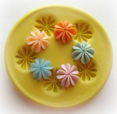Tiny Flower Mold Mould Resin Clay Fondant Jewelry by WhysperFairy, $4.95