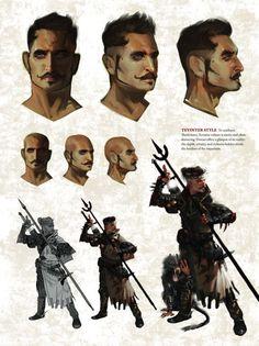 Dorian concept art in 'The Art of Dragon Age: Inquisition'