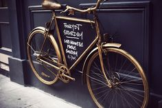 bicycle as frame for an ad...