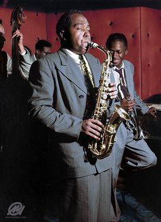 Charlie Parker, legendary Grammy Award–winning jazz saxophonist who, with Dizzy Gillespie, invented the musical style called bop or bebop.