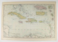 Hasel Island St ThomasDanish West Indies Now The US - Map of us virgin islands and bahamas