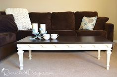 Stately Vanilla Frosting Coffee Table #DIY #furniturepaint #paintedfurniture #homedecor #countrychicpaint #livingroom #coffeetable #offwhite - blog.countrychicpaint.com