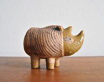 Rhino Lisa Larson Figurine