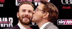 Robert Downey Jr.: Kissing the Avengers