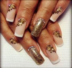 Gold nails  stands out and is usually used for showing glittery and elegant things in life. This means that when you chose the gold hue there is something...