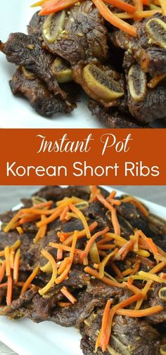These Instant Pot Korean Short Ribs were so yummy! Even the kids gobbled them up… These Instant Pot Korean Short Ribs were so yummy! Even the kids gobbled them up. I can't believe how easy they were to make! Instant Pot Pressure Cooker, Pressure Cooker Recipes, Slow Cooker, Pressure Cooking, Korean Short Ribs, Crockpot Recipes, Easy Recipes, Dinner Recipes, Kitchens