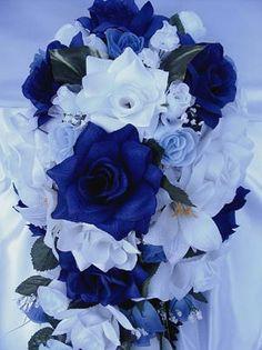 bridal style and wedding ideas: Perfect Royal Blue Wedding Bouquet