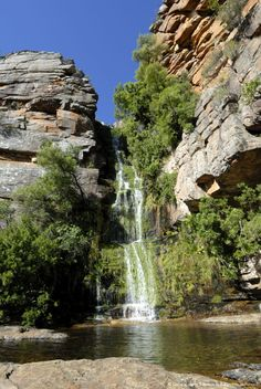 Waterfall in Cedarberg Mountains, South Africa. Amazing hike!                                                                                                                                                                                 More