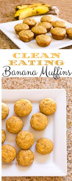 Clean Eating Banana Muffins {a Kid-friendly recipe!} - Homemade for Elle