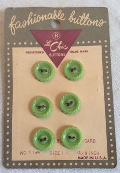 Lime green plastic buttons green plastic buttons by RosiesButtons
