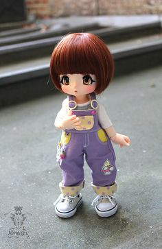 Girl topper / My Kinoko, fullset ^^ by Enaibi, via Flickr - she would be cute made of fondant for a cake topper