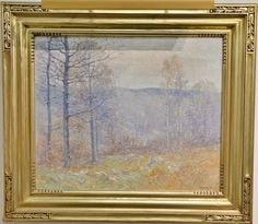 Guy Carleton Wiggins (1883-1962)  November in the Hills  oil on canvas  signed lower right: Guy Wiggins  dated on reverse before lining: 1920  Being sold with sales receipt from The Cooley Gallery [...more]  Estimate: $4000 - $8000
