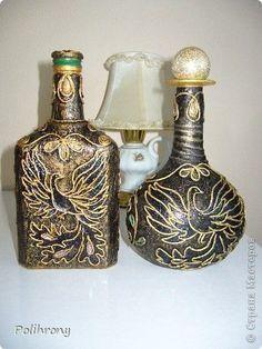 Пейп-арт Декор бутылок