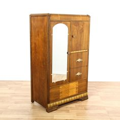 Art Deco Waterfall Wardrobe Armoire