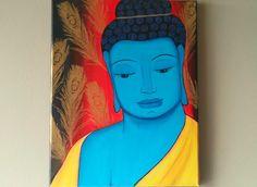 Original Zen Buddha Spiritual Painting,Yoga painting,Buddha Painting,Abstract Buddha Tibetan Wall Art,Meditation Buddha Painting,11x14 by ArtByRangrez on Etsy