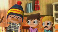 Manualidad muñeco de nieve, Actividades para niños, manualidades, artesanias. Caricaturas animadas Telmo y Tula, videos de dibujos