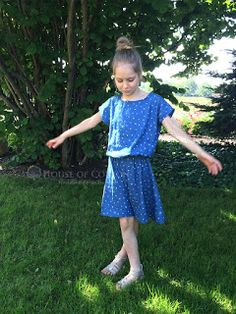 Quick girly dress DIY jeans letters / Szybki tutorial: sukieneczka