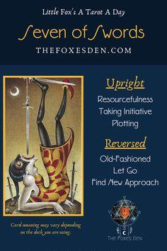 Tarot Card Meanings, Angel Cards, Major Arcana, Tarot Decks, Tarot Cards, Swords, Wicca, Pagan, Booklet