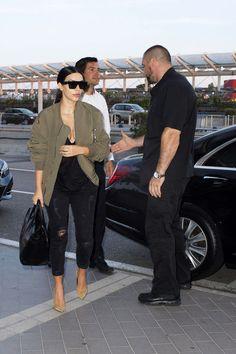 Kim Kardashian style 2014 I love the bomber jacket!!