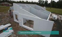 Sistema de construção em painéis de Aço com núcleo de EPS