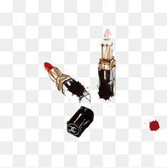 Pintado a mano de Makeup Lipstick